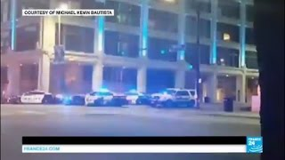 Dallas police shooting: dramatic sniper shooting captured on video by witnesses