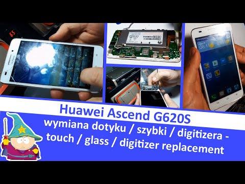 Huawei Ascend G620S Wymiana dotyku / szybki / digitizera - touch / glass / digitizer replacement