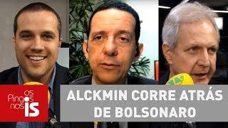 Debate: Alckmin corre atrás de Bolsonaro