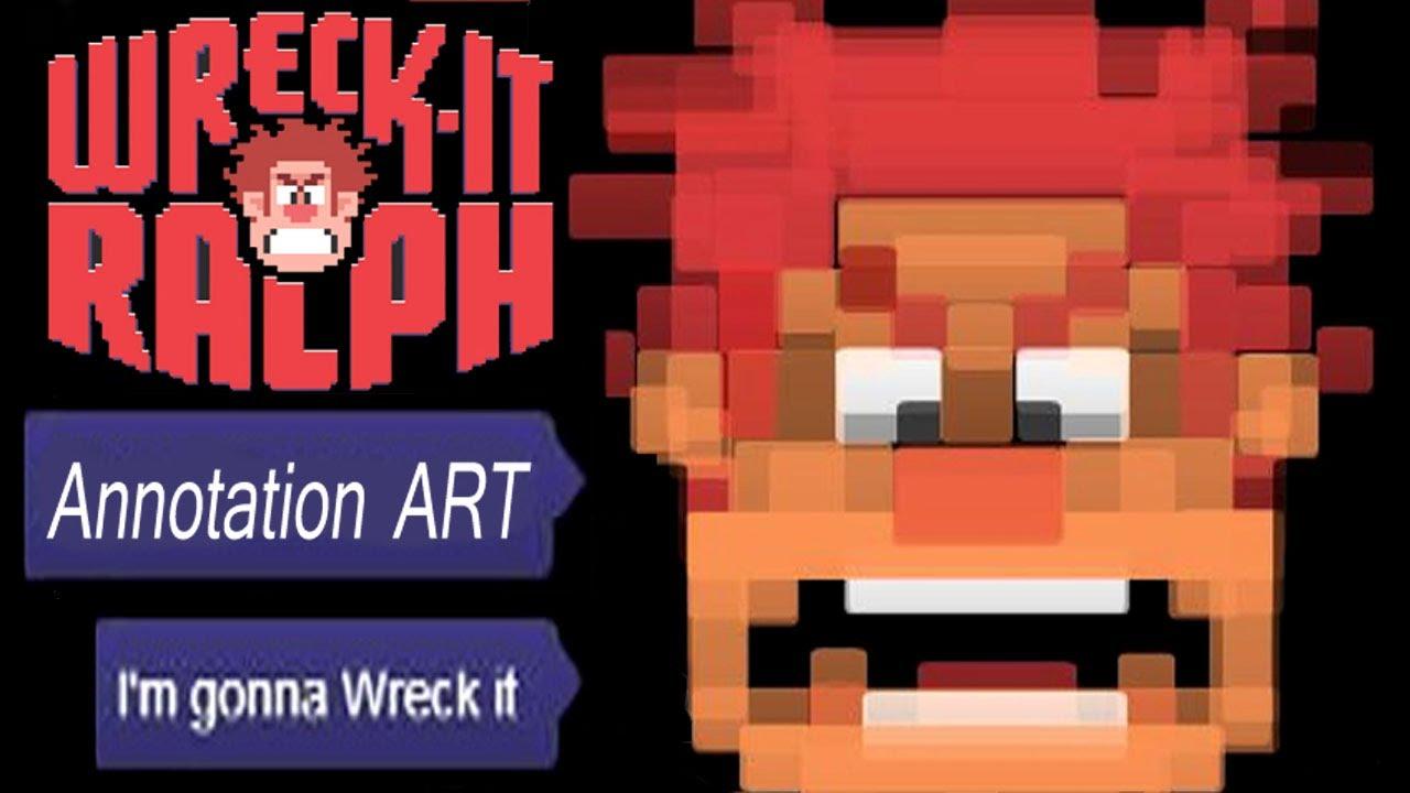 Wreck-It Ralph 8-Bit: YouTube Annotation Art