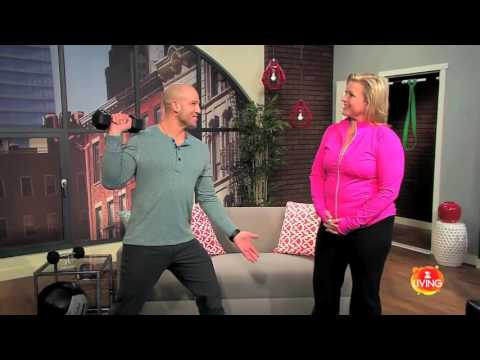 Jeff Halevy TV Show Fitness Guru Emme Side Press Z Living Strengthen Lower Back Workout from Within