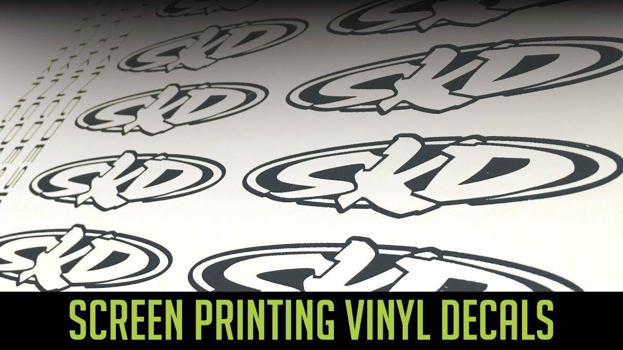 Screen Printing Vinyl Stickers