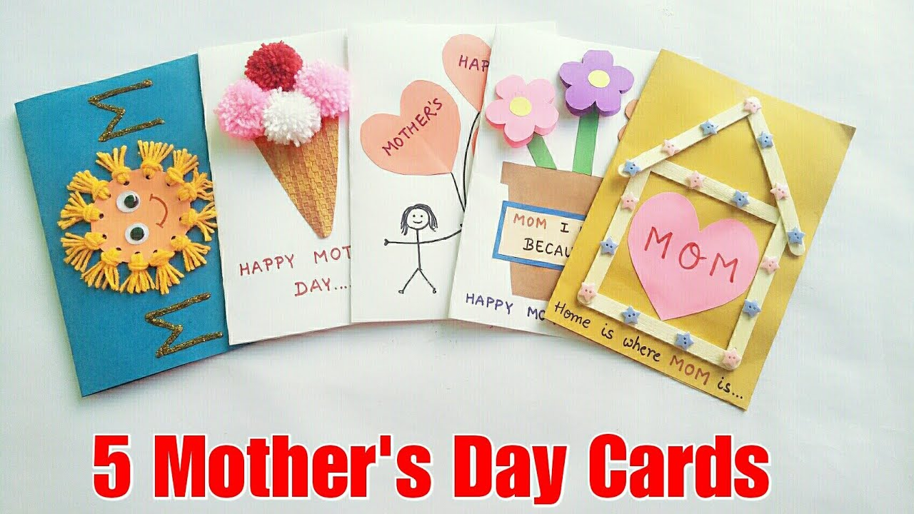 5 Special DIY Mother's Day Cards Ideas for Kids/Mother's ...