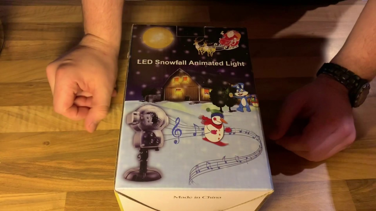 Led Weihnachtsbeleuchtung Projektor.Jeenso Weihnachtsbeleuchtung Led Animations Projektor Musik Projektionslampe Unboxing Und Anleitung