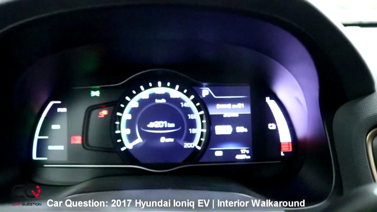 2017 hyundai ioniq electric interior walkaround complete review part 2 7 youtube. Black Bedroom Furniture Sets. Home Design Ideas