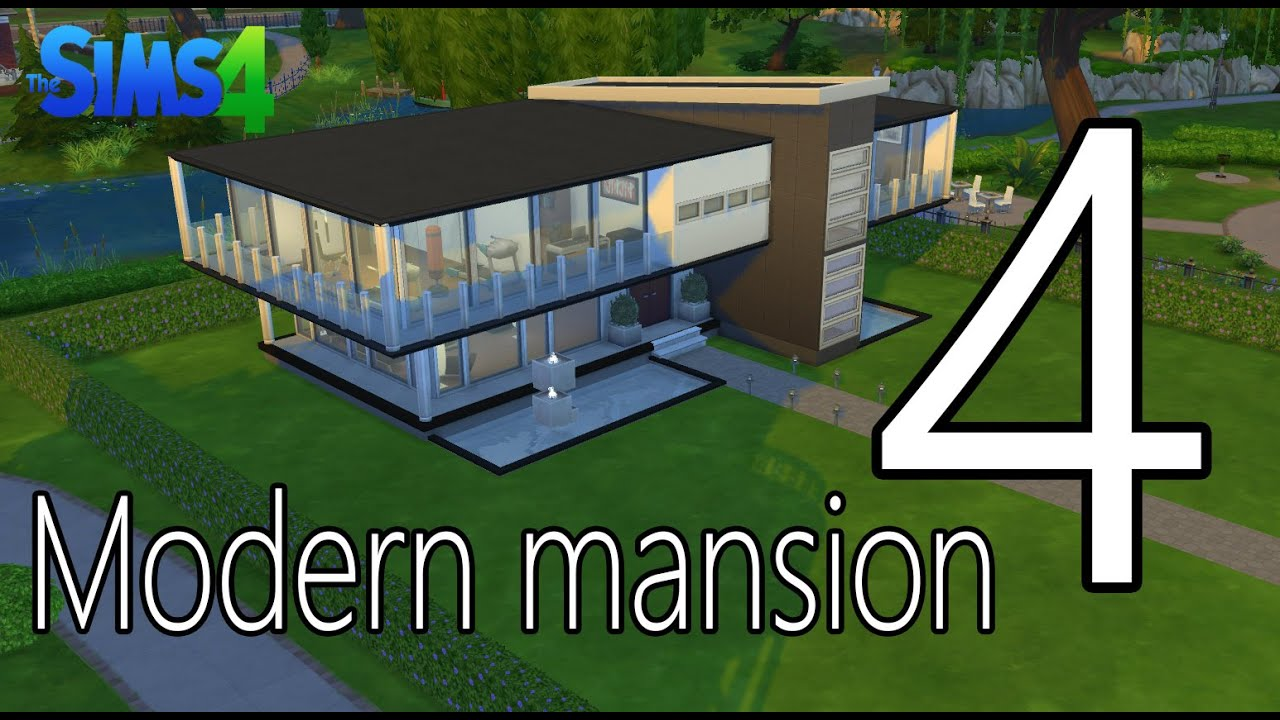 The sims 4 houses 4 modern mansion mansi n moderna for Sims 2 mansiones y jardines