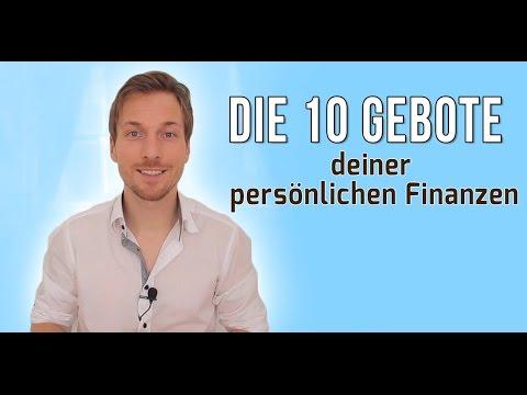 Die 10 Gebote deiner persönlichen Finanzen