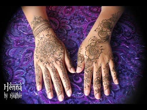 henna tattoo mandala on the hand youtube. Black Bedroom Furniture Sets. Home Design Ideas