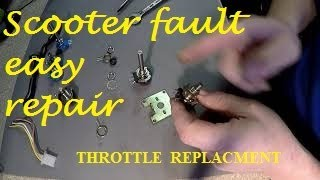 Mobility scooter Throttle pot Repair
