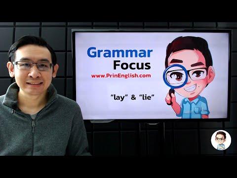 """lay"" และ ""lie"" สองคำอันน่าสับสนนี้ใช้อย่างไร - Grammar Focus"