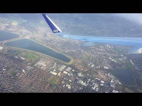 View from the sky! Flight Trip - SAS Scandinavian Airline! From Copenhagen to London Airport!