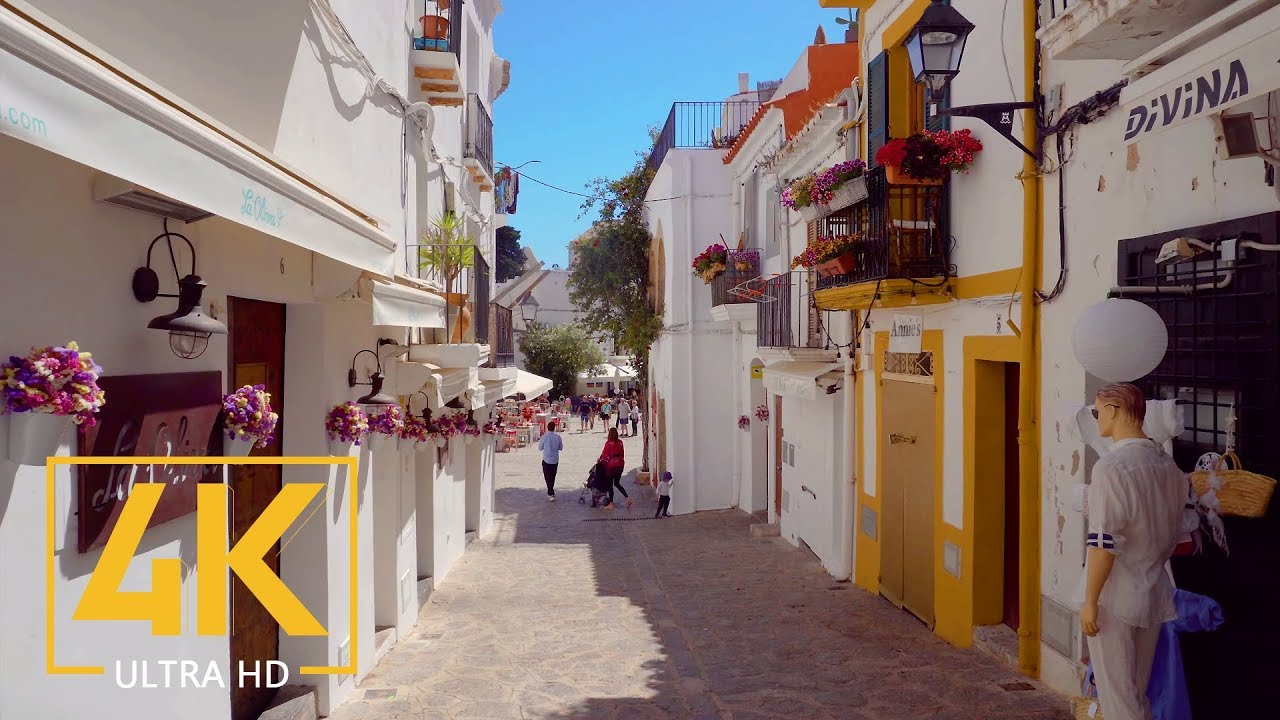 The Allure of Ibiza, Spain - 4K City Walking Tour with Original City Sounds