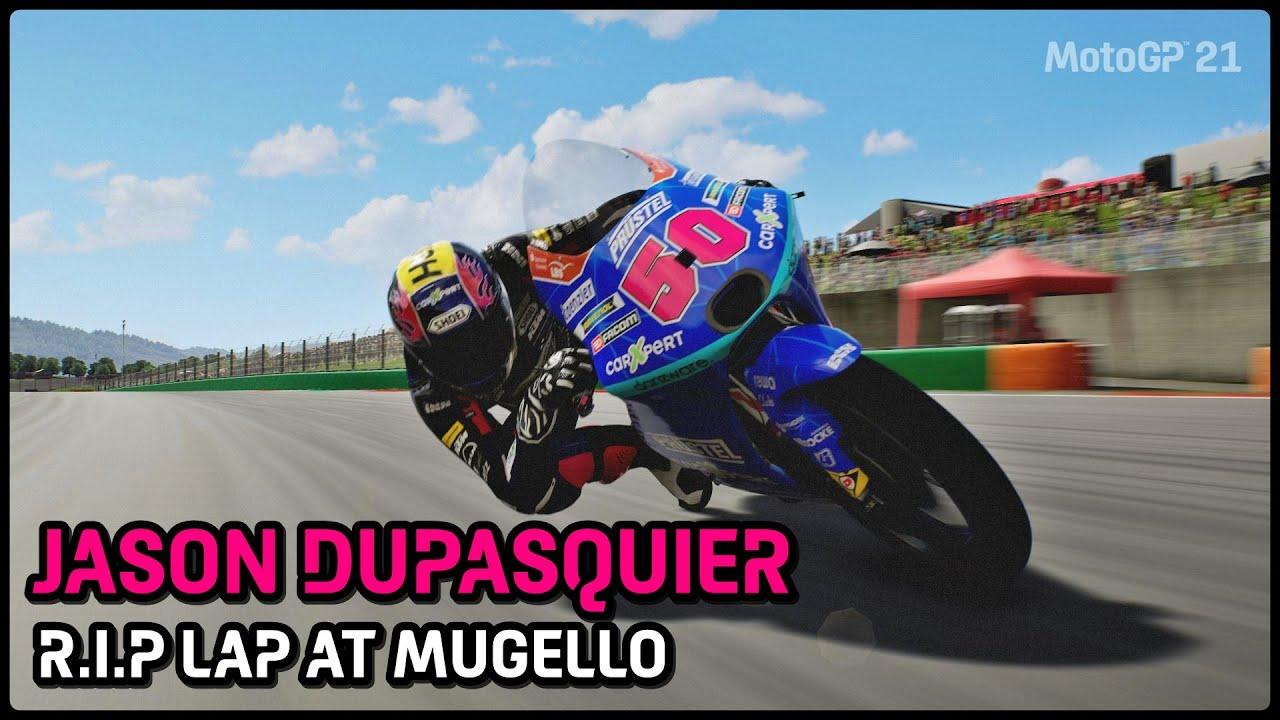 MotoGP 21   Jason Dupasquier   RIP lap at Mugello 2021   TV REPLAY LAP