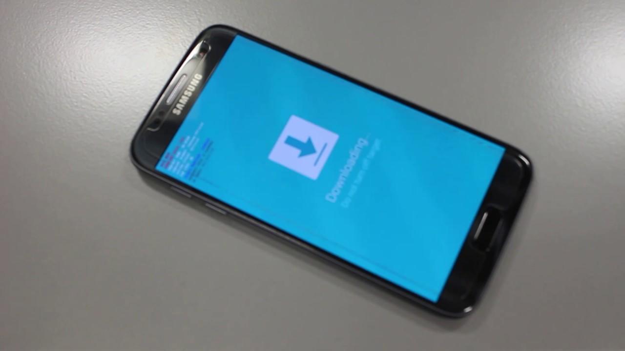 galaxy s7 downloading blue screen