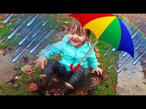 Rain, Rain Go Away | Nursery Rhymes & Simple Songs for Children | Muddy Puddles Fun