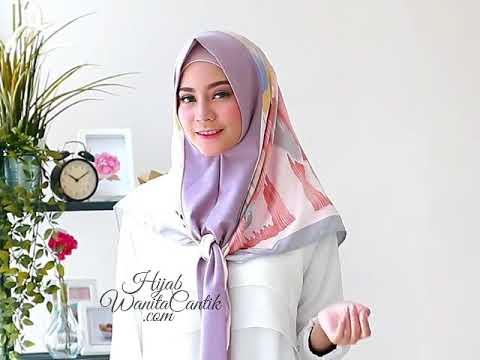 Cara Memakai Hijab Segitiga Instan