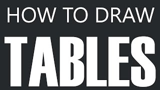How To Draw A Table - Antique Kitchen Table Drawing (Dinner Tables)