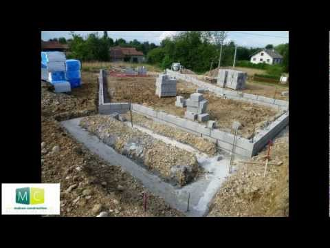 Les étapes de la construction d'une maison, des fondations au toit - steps of building a house