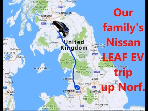 NISSAN LEAF - 500 MILE EV TRIP - GOOD ELECTRIC CAR, AWFUL UK CHARGE POINT INFRASTRUCTURE -  HD1080p