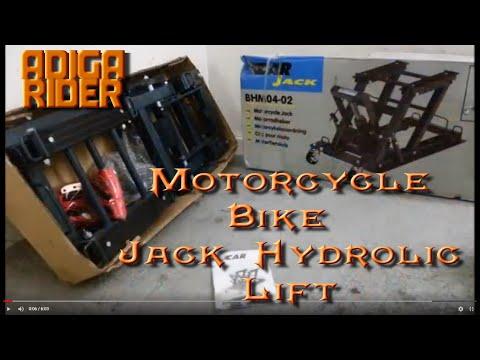 DIY Motorcycle Garage Mechanic - Bike Lift - Hydraulic Jack Test By Vlad The Adiga Rider