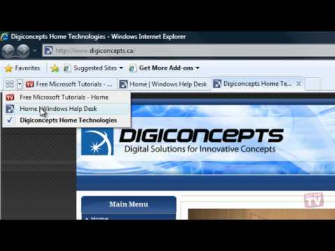 Viewing Multiple Web Pages In Internet Explorer 8
