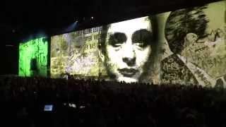 "U2 ""The Wanderer"" (featuring Johnny Cash) at MSG 07.23.15 #U2ieTour"
