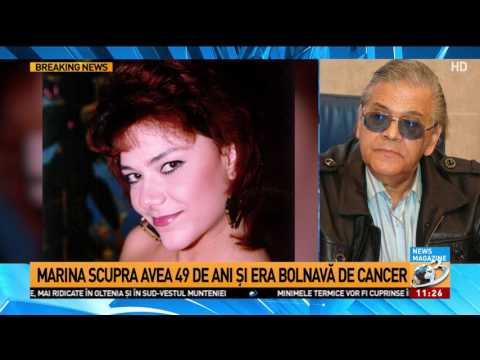 A murit Marina Scupra. Cântăreața a fost răpusă de cancer