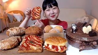 초콜릿 케이크 샐러드빵 콘치즈볼 피자빵 김치고로케 교촌…