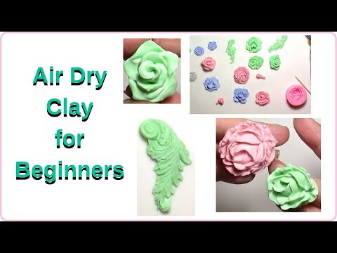 Air Dry Clay For Beginners : You Can Use Many Molds