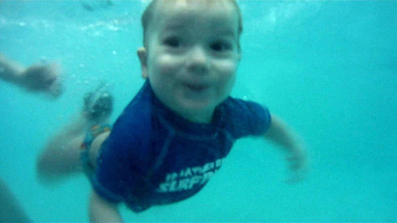 baby swimming pool fun 21 months youtube