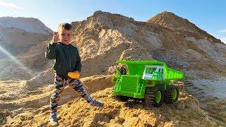 Трактор Самосвал и Погрузчик Bruder  Тёма помогает трактору Видео про машинки