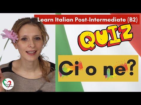 5. Learn Italian Post-Intermediate (B2)- Quiz: ci o ne?