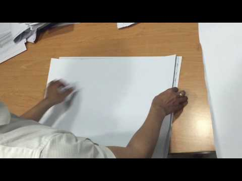 How to quickly fold an architectural A1 paper to A4