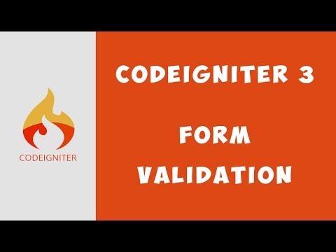 Cara Menggunakan Form Validation Codeigniter