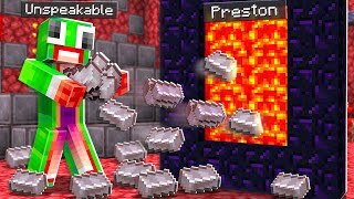 7 Ways to Stęal Unspeakable's Netherite! - Minecraft