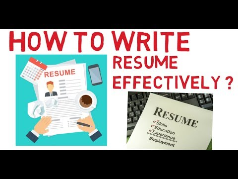 How To Write Resume Effectively ?Communication Skills .