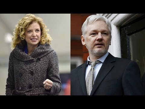 """Julian Assange: """"Hillary is incorporating Debbie into her campaign. She is going to be pushing for her re-election to the Congress. That is a very interesting signalling by Hillary Clinton. That if you act in a corrupt way that benefits Hillary Clinto..."""
