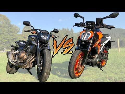 KTM Duke 390   VS   Honda CB500F