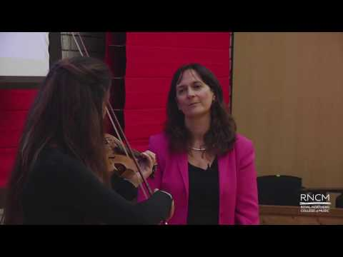 Masterclass (violin 1) at the Royal Northern College of Music