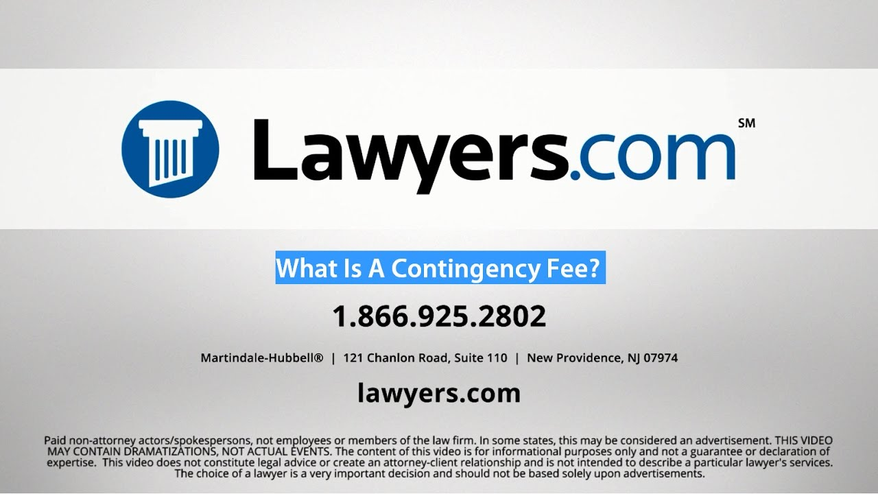 Definition Of Contingency Fee Lawyers Com