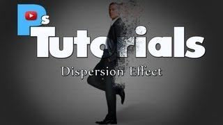 Photoshop tutorial dispersion effect with Brad Pitt cs6