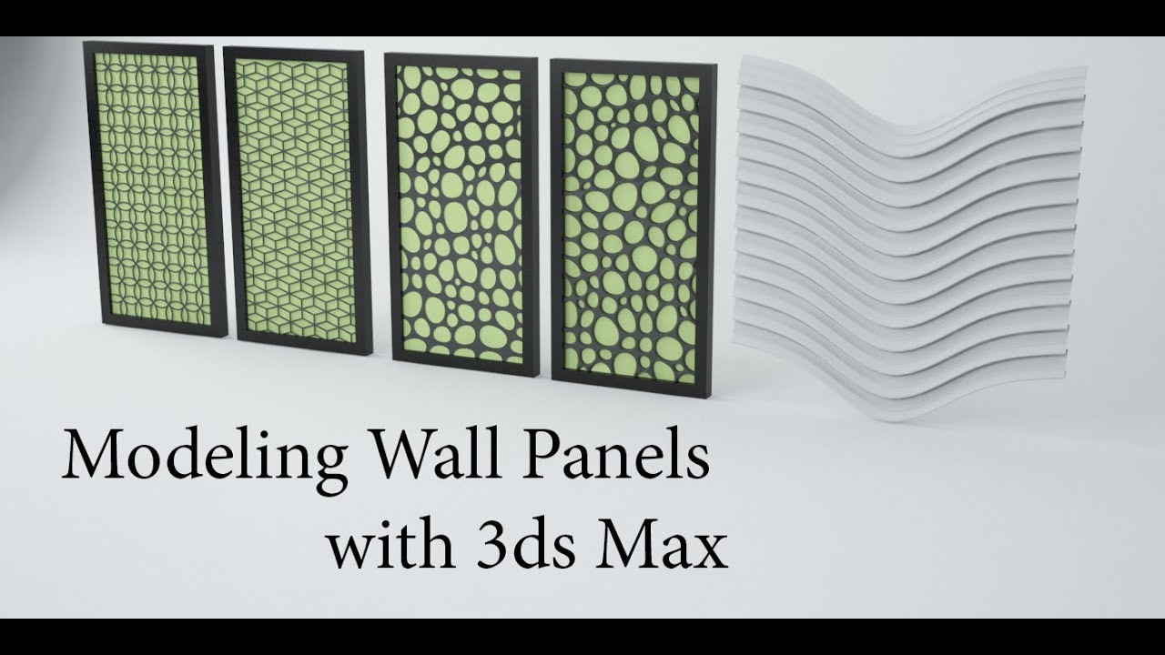 Modeling Wall Panels In 3ds Max Youtube