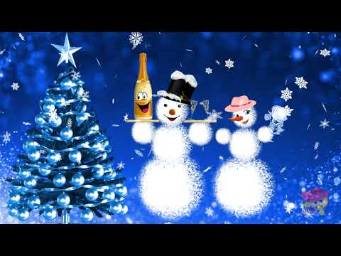 Красивые и забавные снеговики Три новогодних футажа бесплатно