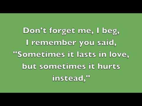 Someone Like You - Adele (Lyrics)