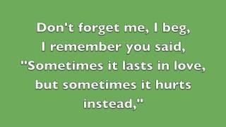 Repeat youtube video Someone Like You - Adele (Lyrics)