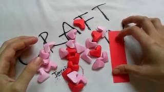 Handmade   Cách làm trái tim bằng giấy cực dễ thương