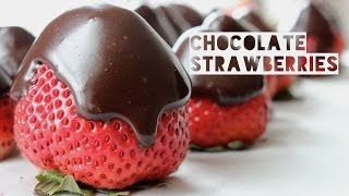 Healthy Chocolate Covered Strawberry Recipe | How To Make Low Calorie Chocolate Covered Strawberries