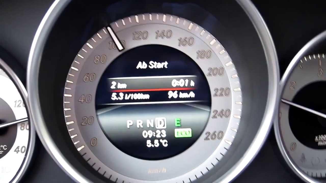 verbrauch mercedes-benz c 350 cdi autobahn / highway fuel