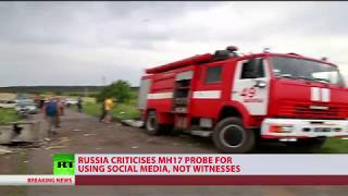 Russian MoD criticizes MH17 investigation for using social media, not witnesses