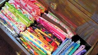 How To Store Fabric And Sewing Stuff
